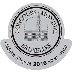 Concours Mondial de Bruxelles 2016 Silver Winner