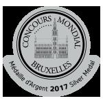Concours Mondial de Bruxelles 2017 Silver Winner